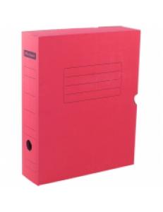 """Короб архивный А4  75мм (микрогофрокартон) с клапаном, красный """"OfficeSpace"""" 225411"""