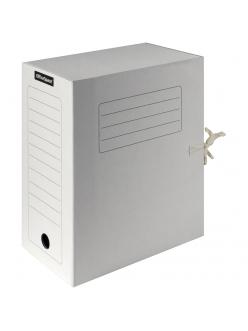 """Папка архивная с завязками (150мм) микрогофрокартон белая """"Спейс"""" 225437"""