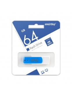 Флэш-карта 64Gb USB 3.0 Crown Diamond cиняя SmartBuy SB64GBDB-3