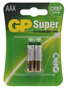 Батарейка GP LR03/AAA Super Аlkaline 2BL (20)
