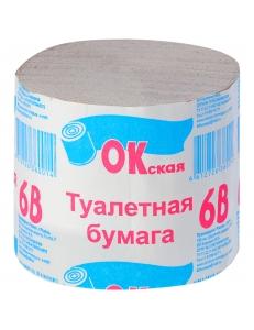"""Бумага туалетная Окская, 1 слойн., 100г, без втулки, серая 30м """"Окская"""" 228928"""