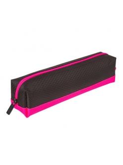 "Пенал-косметичка мягкий, ""Black&Bright"", черно-розовый, 21х5х5см BRAUBERG 229006"