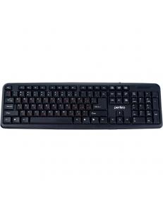 Клавиатура проводная черная <PF-3093> USB полноразмерная PERFEO PF-3093
