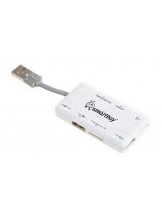USB HUB + Картридер Combo белый <SBRH-750-W> SmartBuy SBRH-750-W