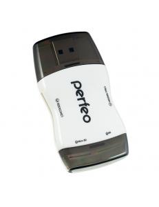 Картридер внешний <PF-VI-R016> SD/MMC/MicroSD/MS/M2 черный PERFEO PF-VI-R016