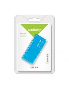 USB HUB 4 порта Голубой <SBHA-6110-B> USB 2.0 SmartBuy SBHA-6110-B