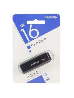 Флэш-карта 16Gb USB 2.0 LM05 Черная c колпачком SmartBuy