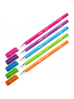 """Ручка шариковая """"BERLINGO Starlight"""" (0,7мм) синяя, игольчатый стержень, прорезиненный корпус <CBp_07250> 255130"""
