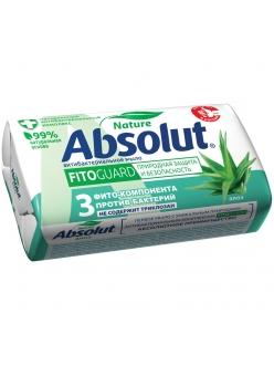 """Мыло туалетное Absolut """"Алоэ"""", антибактериальное, бумажная обертка, 90г <6061> 260881"""