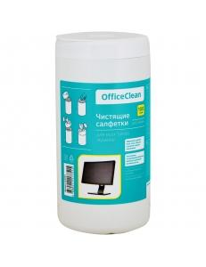 """Чистящие салфетки (Туба 100шт.) для экранов """"OfficeClean"""" 260884"""