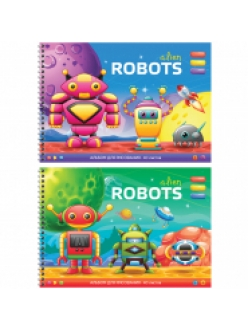 """Альбом для рисования А4, 40л. на гребне """"Funny robots"""" <А40сп_20273> ArtSpace 262376"""