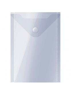 "Папка-конверт на кнопке А6 150мкм прозрачная (105х148мм) ""OfficeSpace"" 267536"