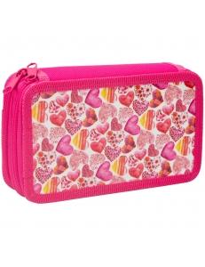 """Пенал 2отделения 190х110 """"Pink hearts"""" ламинация <30П25-2_ПК11_25439> ArtSpace 269960"""
