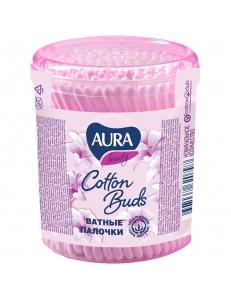 """Ватные палочки Aura """"Beauty"""", 100шт., пластиковый стакан """"Коттон Клаб"""" 270354"""