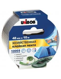 """Клейкая лента хозяйственная 48мм*10м, серая, инд.упаковка <44264> """"Unibob"""" 271460"""