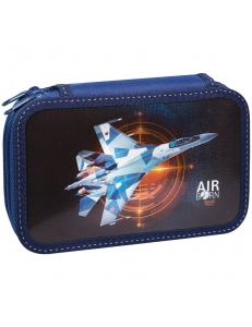 """Пенал 2отделения 190х115 """"Fighter"""", ламинированный картон, конгрев, металл. <81П25_2_23134> ArtSpace 275042"""