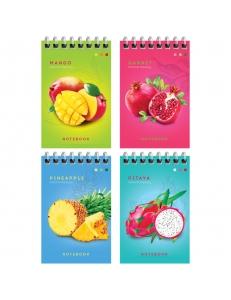 """Блокнот А7 40л. на гребне """"Colorful fruits"""" <Б7к40гр_24244> """"ArtSpace"""" 276083"""