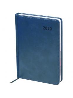 "Ежедневник А5 2020г. 176л. ""Vesper Index"" синий, кожзам <Ed5d_25107> ""OfficeSpace"" 278645"
