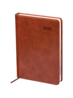"""Ежедневник А5 2020г. 176л. """"Vesper Index"""" коричневый, кожзам <Ed5d_25108> """"OfficeSpace"""" 278646"""