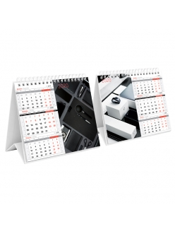 """Календарь-домик 2020г. """"Mono Premium.Офис"""" на гребне 190*170мм """"OfficeSpace"""" 282541"""