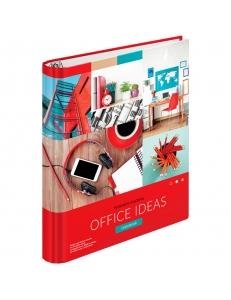 "Тетрадь на кольцах А5 120л. (клетка) ""Офис.Сolorful ideas"" тверд.картон, глянцевая ламинация <ТК120_27830> ""ArtSpace"" 285808"