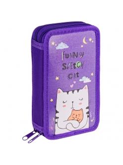 """Пенал 2отделения 190х110 """"Dream cat"""" ламинированный картон <ПК2_29096> ArtSpace 292947"""