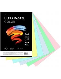 """Бумага А4 100л. OfficeSpace """"Ultra Pastel Color"""" 80г/м2 MIX (5х20) 306555"""