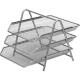 "Лоток для бумаг горизонтальный (3секции) металл. сетка, серебро 355х295х267мм ""Attache"" 383303"