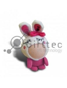 3D Игрушка Заяц РОЗОВЫЙ (размер 8-10 см) запечатка 5х5см / 2-PD1 4301