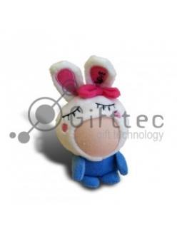 3D Игрушка Заяц СИНИЙ (размер 8-10 см) запечатка 5х5см / 2-PD2 4302