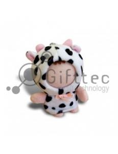 3D Игрушка Корова (размер 8-10 см) запечатка 5х5см / 2-PD12 4307