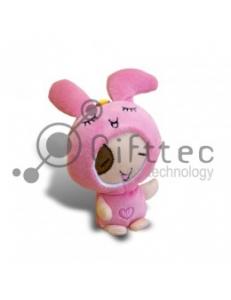 3D Игрушка Кролик Розовый с присоской (размер 12 см) запечатка 5х5см / 2-PD20 4311