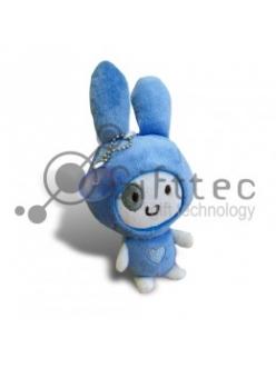 3D Игрушка Кролик СИНИЙ с присоской (размер 12 см) запечатка 5х5см / 2-PD21 4312