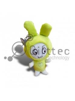 3D Игрушка Кролик ЗЕЛЕНЫЙ с присоской (размер 12 см) запечатка 5х5см / 2-PD23 4313