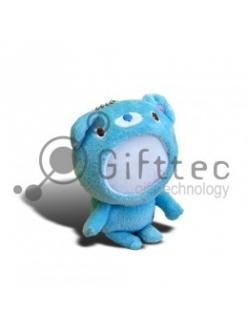 3D Игрушка Медвежонок СИНИЙ (размер 12 см) запечатка 5х5см / 2-PD33 4319