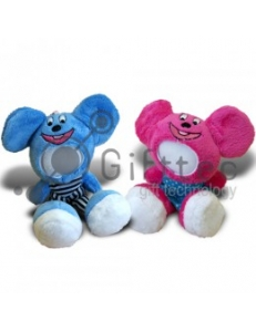3D Игрушка Влюбленная Мышка комплект 2шт. (размер 18 см) запечатка 5х5см / 2-PD53 4332
