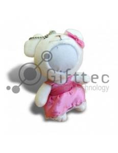 3D Игрушка Влюбленный Медвежонок БЕЛЫЙ (размер 12 см) запечатка 5х5см / 2-PD56 4333