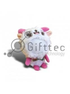 3D Игрушка Овца РОЗОВЫЕ ножки (размер 12 см) запечатка 5х5см / 2-PD63 4336