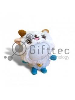 3D Игрушка Овца ГОЛУБЫЕ ножки (размер 12 см) запечатка 5х5см / 2-PD64 4337