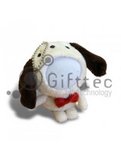 3D Игрушка Собака КОРИЧНЕВАЯ (размер 12 см) запечатка 5х5см / 2-PD79 4342