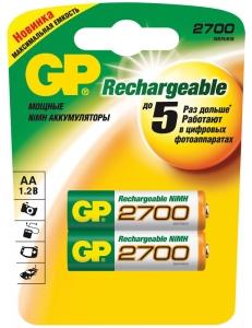 Аккумулятор GP R6/AA NiMH 2700mAh 2BL 4891199077746