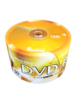 DVD-R Smart Buy 4.7Gb 16x тех.уп.(50шт.)в пленке 4607177552385