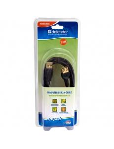 Кабель-удлинитель USB 2.0 АМ/AF(1.8м) DEFENDER 4714033874564