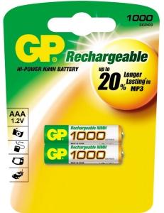 Аккумулятор GP R3/AAA NiMH 1000mAh 2BL