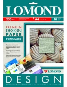 """Дизайн-бумага """"Пойнт Макро""""гляневая 230 г/м2 (10л.) LOMOND 932041"""