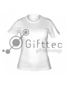 Футболка женская белая (круглое горло) Classic, синтетика/хлопок (сэндвич) р.52 (XXL) для сублимации 10542