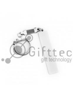 Брелок для ключей ГОСНОМЕР БЕЛЫЙ под сублимацию (комплект для изготовления брелка) (упаковка 10 шт.) 10721