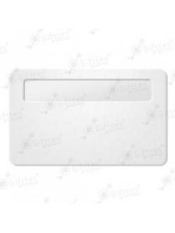 Бейдж 76х51мм с окном 60х12мм (белый SU01), упаковка 10шт 11620