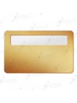 Бейдж 76х51мм с окном 60х12мм (золото глянец SU21), упаковка 10шт 11621