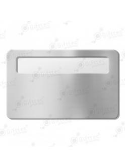 Бейдж 76х51мм с окном 60х12мм (серебро глянец SU23), упаковка 10шт 11622